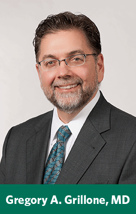 Gregory A  Grillone, MD, Appointed Chair of Otolaryngology