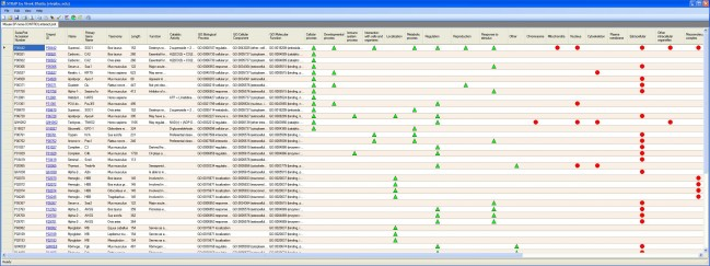 A protein annotation table for one sample