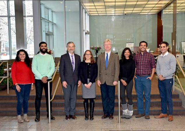 RAMS Scholars and program directors, from left to right: Raagini Jawa, Sukhpreet Klaire, Jeffrey Samet, Jen Edelman, Patrick O'Connor, Ayesha Appa, Kumar Vasudevan, Joao de Aquino
