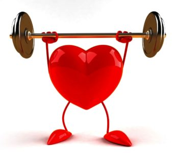 heart holding barbell over its head