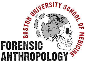 Forensic Anthropology logo with puzzle piece skull