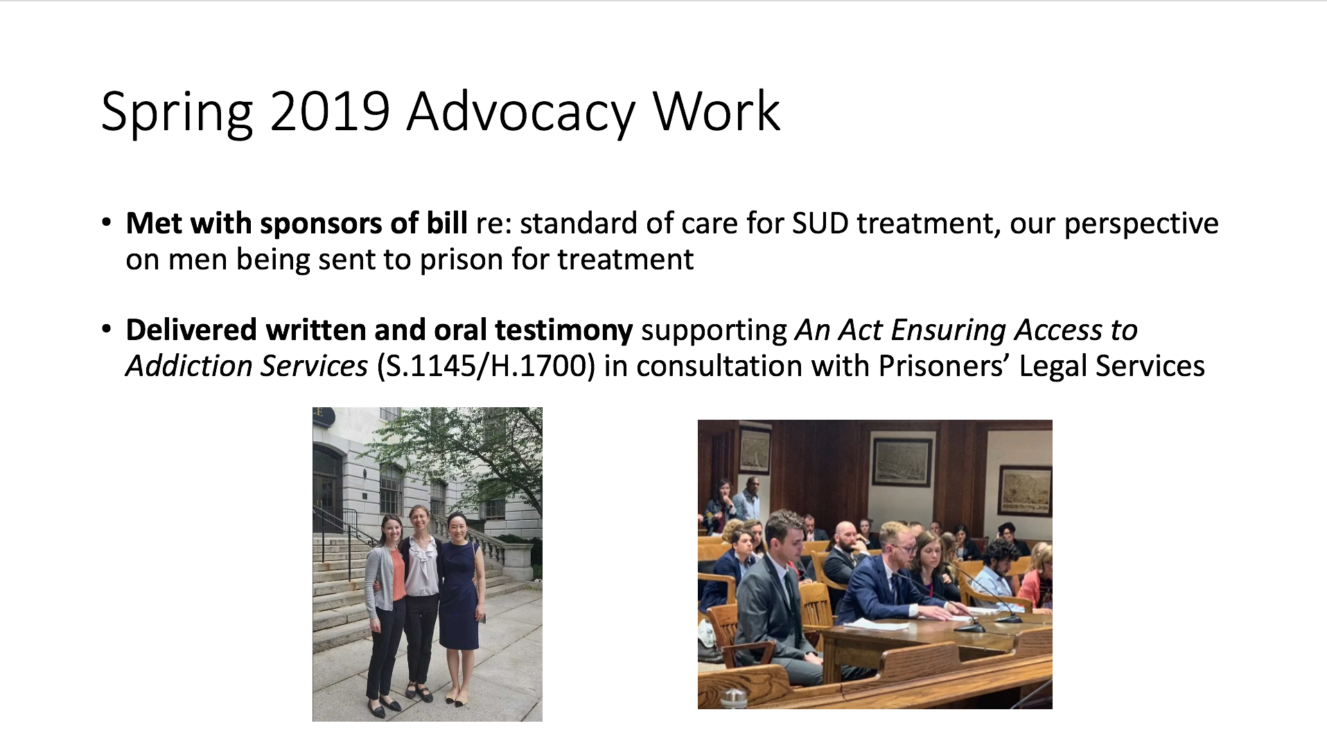 2019 Advocacy projects