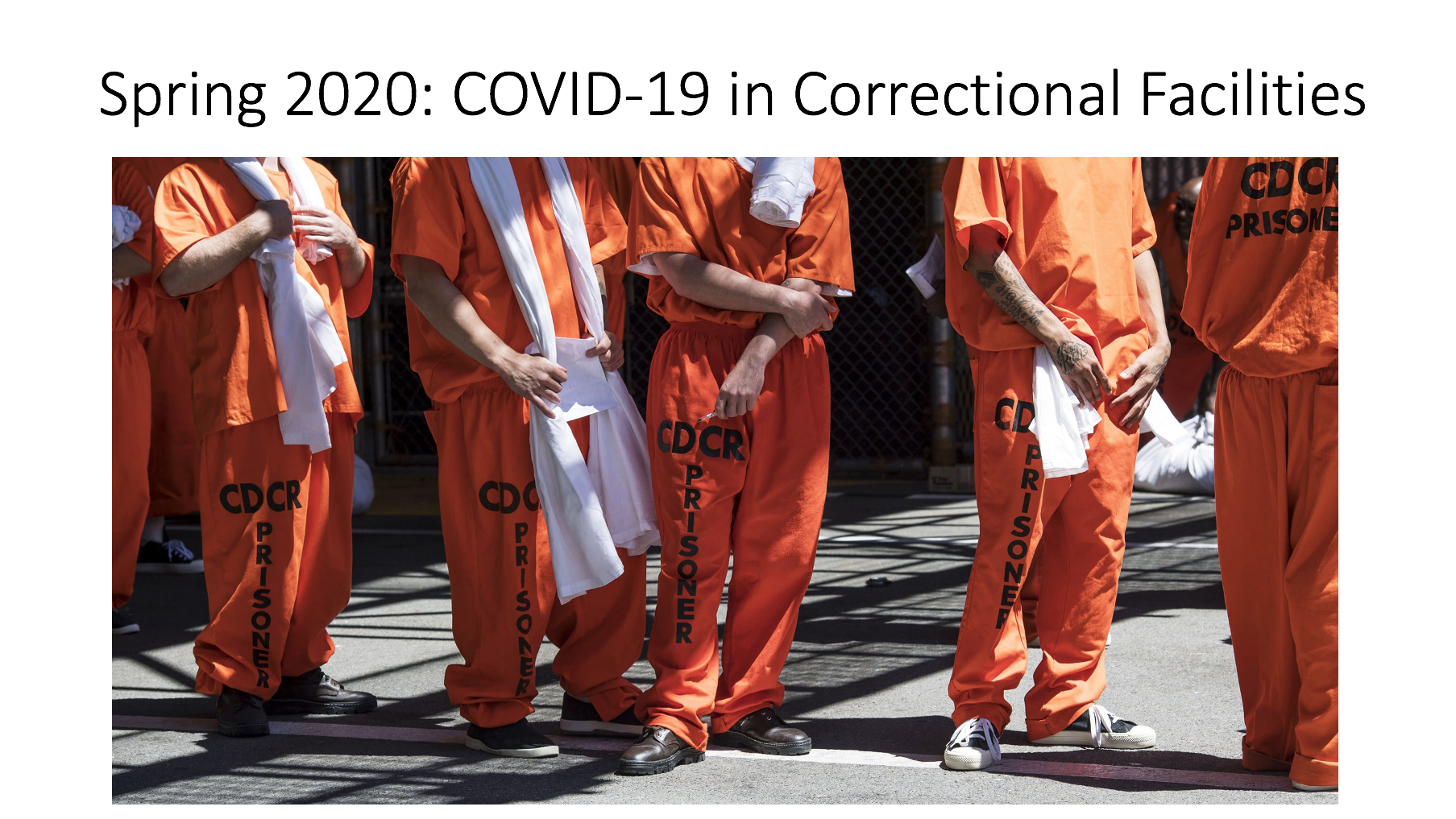 Spring 2020: COVID-19 in Correctional Facilities