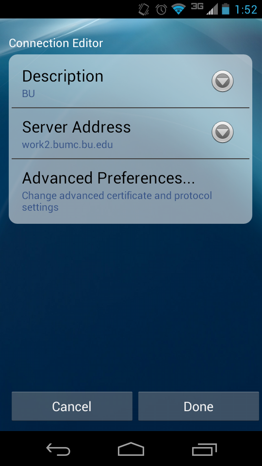 VPN instructions for Android devices » BUMC Information