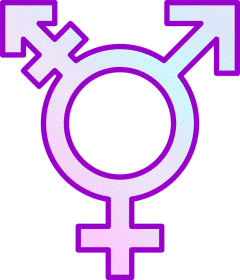 Gender symbol in purple